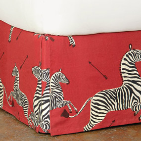 Le Zebre Rouge Bed Skirt