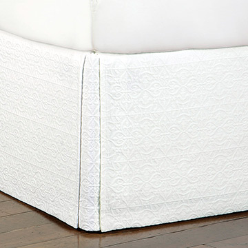 Mea White Bed Skirt