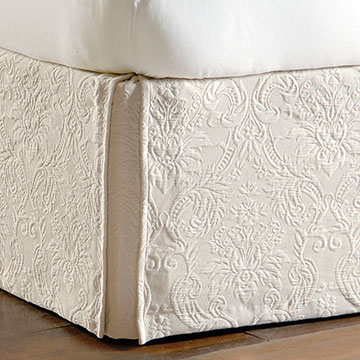 Sandrine Ecru Bed Skirt