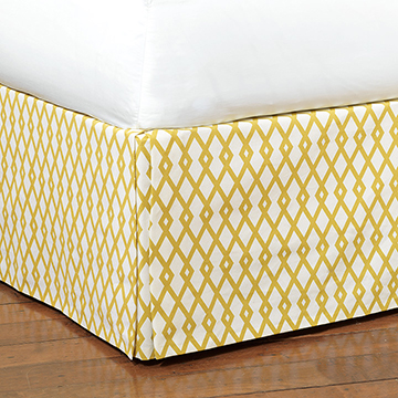 Lattice Gold Bed Skirt