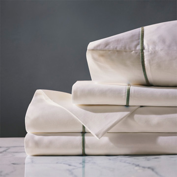 LINEA IVORY/OLIVA SHEET SET