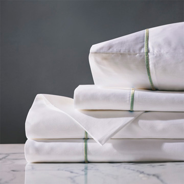 LINEA WHITE/ALOE SHEET SET