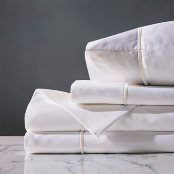 LINEA WHITE/ECRU SHEET SET
