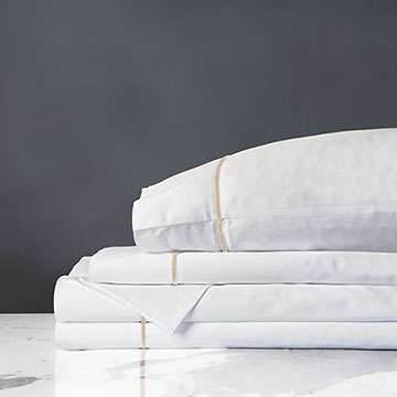 LINEA WHITE/SABLE SHEET SET