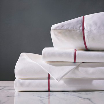 LINEA WHITE/SHIRAZ SHEET SET