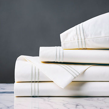 TESSA WHITE/WHITE SHEET SET