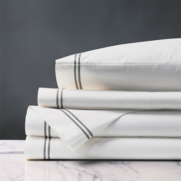 ENZO WHITE/DOVE SHEET SET