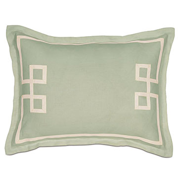 Resort Mint Fret Standard Sham