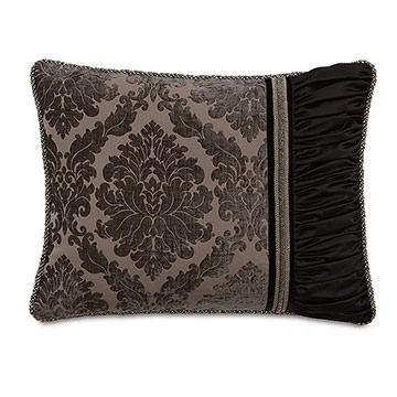 Isadora Charcoal Standard Sham (Right)