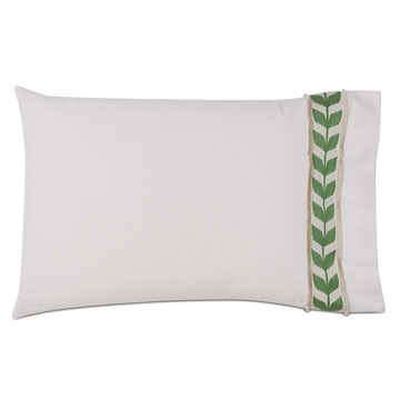 Akela Leaf Standard Sham in Green (Right)