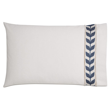 Akela Leaf Standard Sham in Blue (Right)
