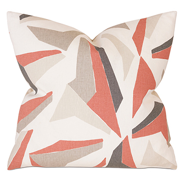 SCONSET Salmon DECORATIVE PILLOW