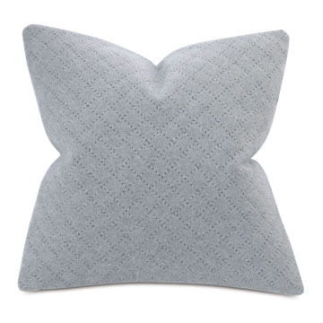 BRERA DIAGONAL TAILOR TACKS DECORATIVE PILLOW IN GRAY