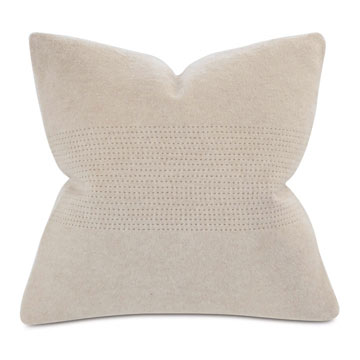 BRERA HORIZONTAL TAILOR TACKS DECORATIVE PILLOW IN BISQUE