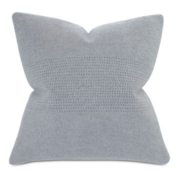 BRERA HORIZONTAL TAILOR TACKS DECORATIVE PILLOW IN GRAY