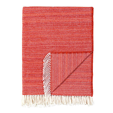 Strié Tangerine Throw