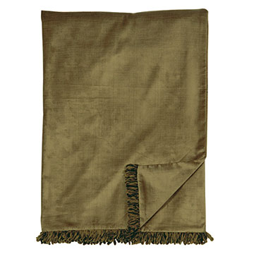LUCERNE OLIVE THROW