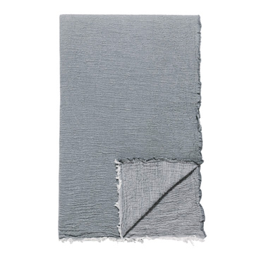 DELAVEEN 100% COTTON THROW IN GRAY