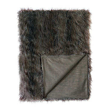 Indochine Faux Fur Throw
