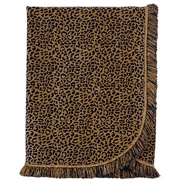 CONGO BLACK & GOLD THROW