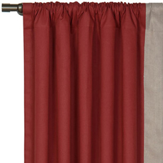 FULLERTON RED CURTAIN PANEL LEFT