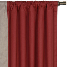 FULLERTON RED CURTAIN PANEL RIGHT