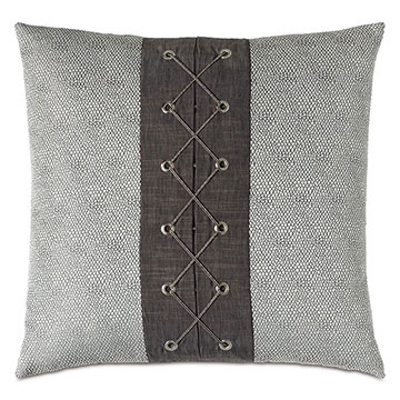 Zephyr Woven Trim Decorative Pillow