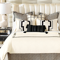 Abernathy - Black,Cream,Neutral,Luxury Bedding,Designer Bedding,Modern,Decorative,Accent,Throw,Euro Sham,Footstool,Ottomans,Duvet Cover,Comforter,PLAID,CLASSIC, BLACK AND WHITE,CONTRAST,CREAM,GREEK KEY,GRAPHIC,GEOMETRIC,ELEGANT,BEDSET,BEDDING SET,STRIPED,BLACK,WHITE,IVORY,DUVET,COMFORTER,SHAMS,CONTRAST,LUXURY BEDSET,NEUTRAL