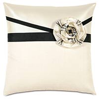 Abernathy Rosette Decorative Pillow