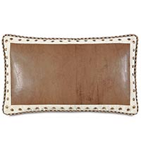 Aiden Faux Leather Decorative Pillow