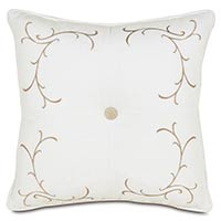 BREEZE WHITE TUFTED EMBROIDERED