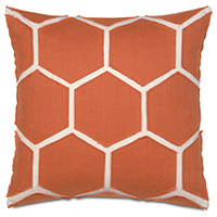 BREEZE TANGERINE ACCENT PILLOW
