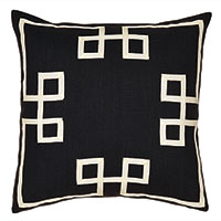 Resort Black Fret Accent Pillow