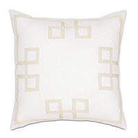 Resort Shell Fret Accent Pillow