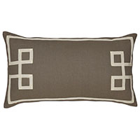 Resort Clay Fret Accent Pillow