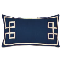 Resort Indigo Fret Accent Pillow