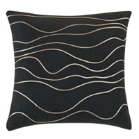Banks Abstract Decorative Pillow In Black