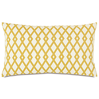 Lattice Gold Accent Pillow