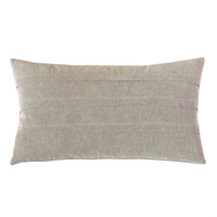 Evangeline Pleated Accent Pillow In Taupe