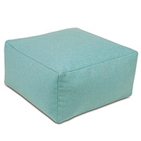 Harris Teal pouf