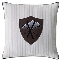 Ski Badge Decorative Pillow