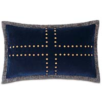 Plush Navy WITH nailheads