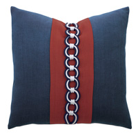 Newport Border Accent Pillow In Indigo