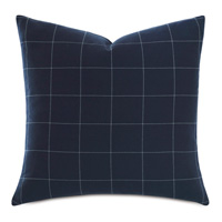 Ladue Checkered Accent Pillow in Indigo
