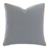 Ladue Houndstooth Accent Pillow in Indigo