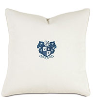 Bel Air Embroidered Decorative Pillow in Indigo