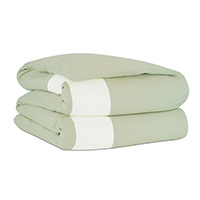 Mint/Shell Border Duvet Cover
