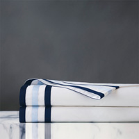 Watermill Indigo Flat Sheet Twin