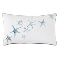 BIMINI HANDPAINTED DECORATIVE PILLOW
