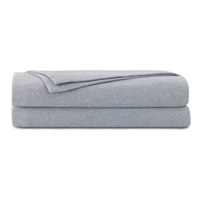 Brera Flannel Blanket In Gray